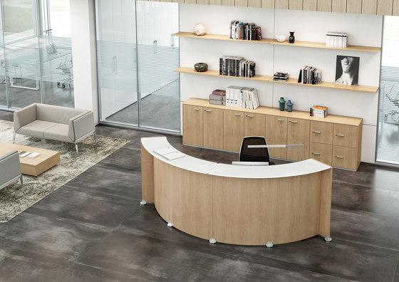 Reception Glass de Quadrifoglio Group | Comptoirs