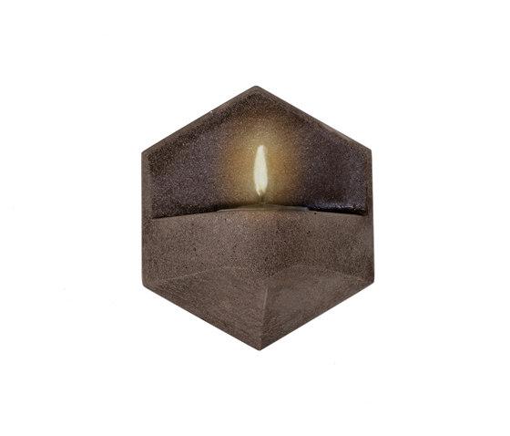 MonoFlame | Concrete Dark Grey by Valence Design | Candlesticks / Candleholder