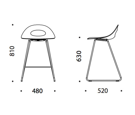 Say O Bar Stool - Metal by Say O | Bar stools