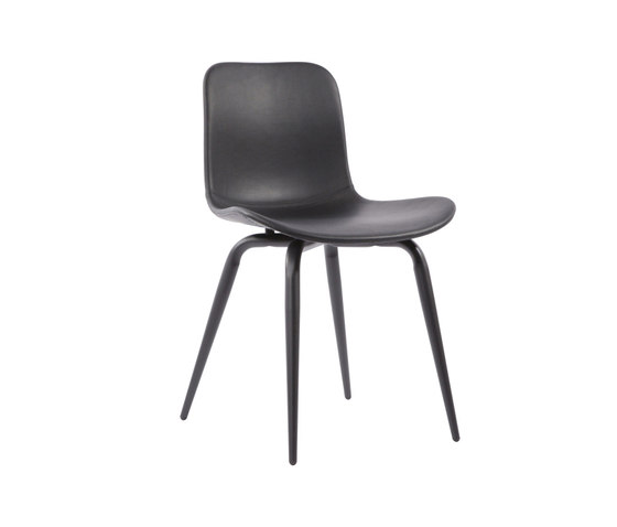 Langue Avantgarde Dining Chair, Black / Premium Leather Black 41599 de NORR11 | Chaises