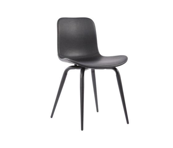 Langue Avantgarde Dining Chair, Black - Leather: Premium Leather Black 41599 de NORR11 | Chaises de restaurant