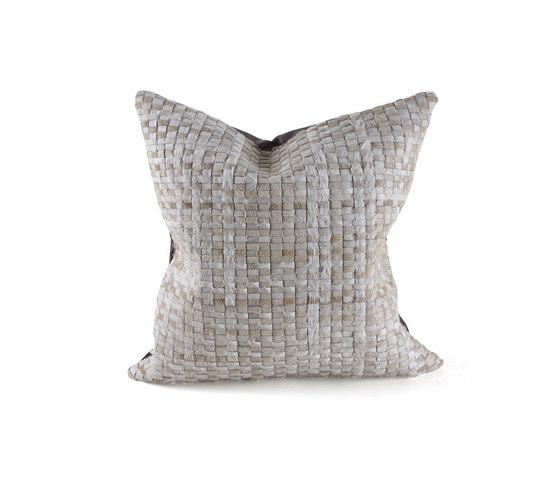 Taos Woven Hide Pillow de Pfeifer Studio   Cojines