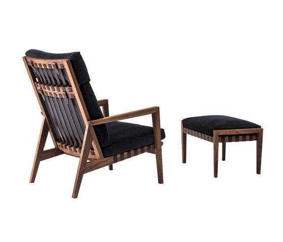 Blava   High Back Easy Chair & Ottoman de Ritzwell   Sillones