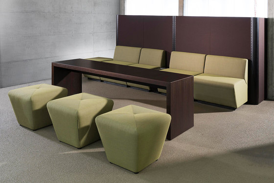 Sitag MCS room dividing partition system | seating modules de Sitag | Pufs