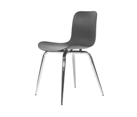 Langue Avantgarde Dining Chair, Chrome: Anthracite Black de NORR11 | Sillas para restaurantes