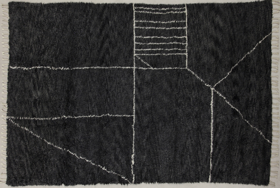 Moroccan Touch MT07 charcoal/ivory by Amini | Rugs