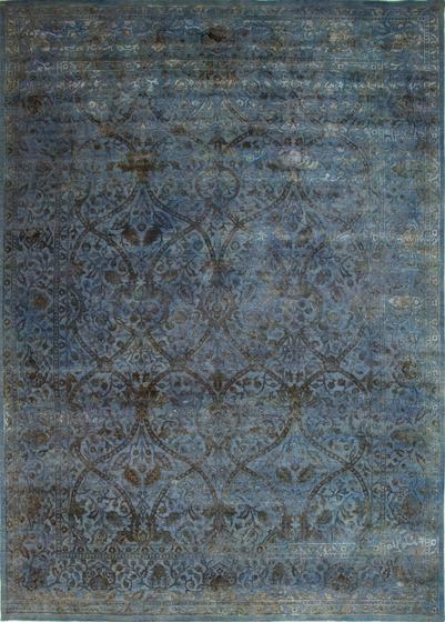 Broccato I blue affresco von Amini | Formatteppiche