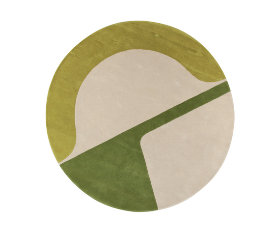 Isola JC-7 green von Amini | Formatteppiche