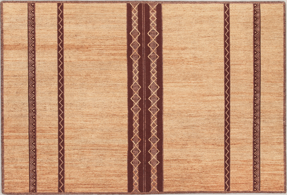 Nema I natural brown von Amini | Formatteppiche