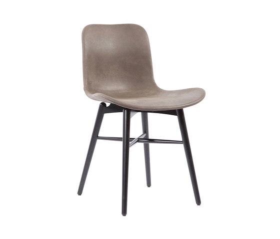 Langue Original Dining Chair, Black / Tempur Leather Grigio Grey 4007 de NORR11   Sillas