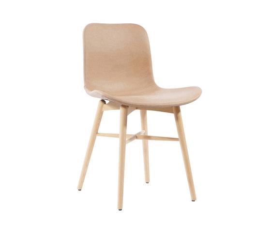 Langue Original Dining Chair, Natural / Vintage leather Camel 21004 de NORR11 | Sillas
