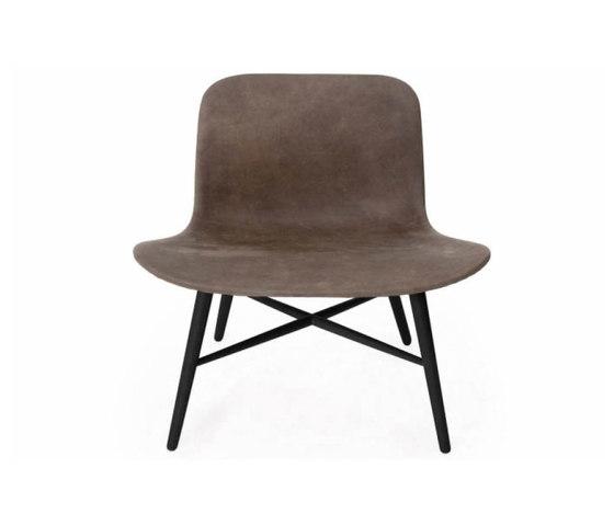 Langue Original Lounge Chair, Black /  Premium Leather Black 41599 de NORR11   Sillones