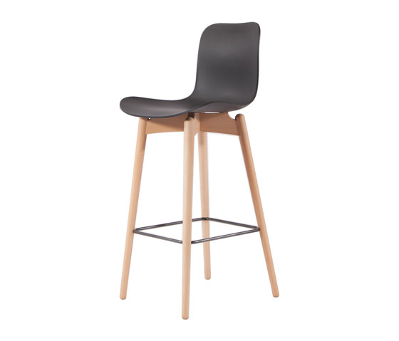 Langue Bar Chair, Natural / Anthrachite Black by NORR11 | Bar stools