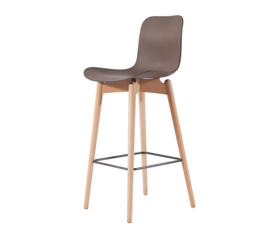 Langue Bar Chair, Natural / Gargoyle Brown by NORR11 | Bar stools