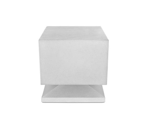 Cubino concrete white by Architettura Sonora | Speakers