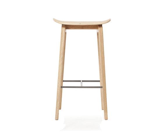 NY11 Bar Chair, Natural, Low 65 cm de NORR11 | Taburetes de bar