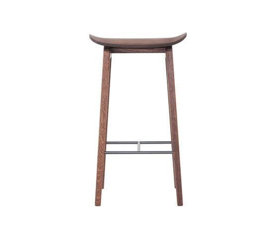 NY11 Bar Chair, Dark Stained, Low 65 cm de NORR11   Taburetes de bar