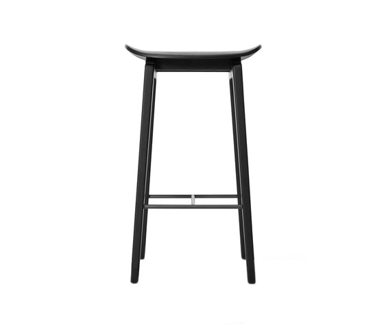 NY11 Bar Chair, Black: Low 65 cm by NORR11 | Bar stools