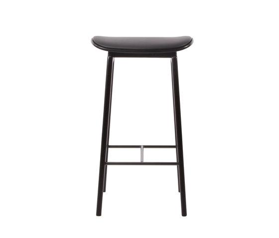 NY11 Bar Chair, Black - Premium Leather Black, Low 65 cm de NORR11 | Taburetes de bar