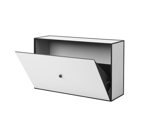 Frame Shoe Cabinet light grey by by Lassen | Cabinets