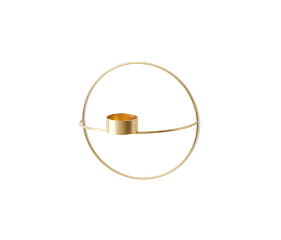 POV Circle Tealight Holder | S Brass de MENU | Bougeoirs