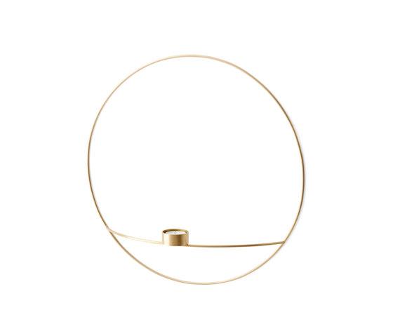 POV Circle Tealight Holder | L Brass by MENU | Candlesticks / Candleholder