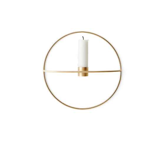 POV Circle Candle Holder | S Brass de MENU | Bougeoirs