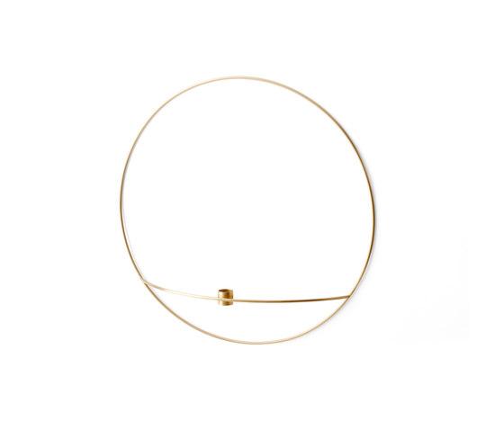 POV Circle Candle Holder | L Brass von MENU | Kerzenständer / Kerzenhalter
