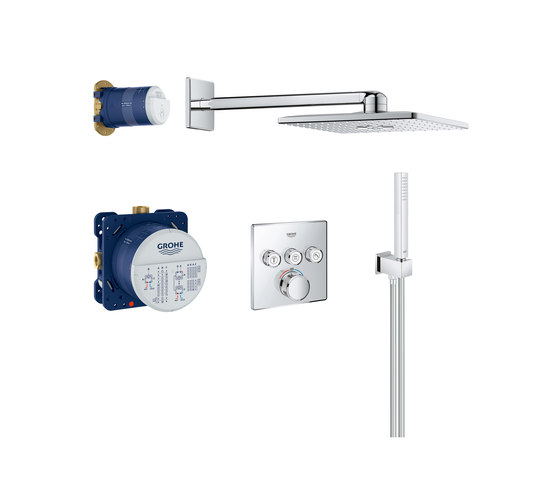 Grohtherm SmartControl Perfect shower set with Rainshower 310 SmartActive Cube by GROHE | Shower controls