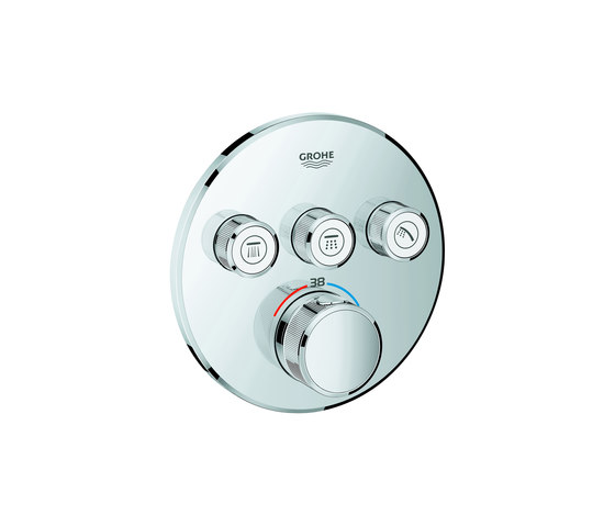 Grohtherm SmartControl Thermostat for concealed installation with 3 valves by GROHE | Shower controls