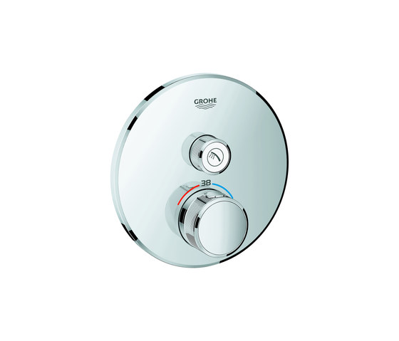 Grohtherm SmartControl Thermostat for concealed installation with one valve by GROHE | Shower controls