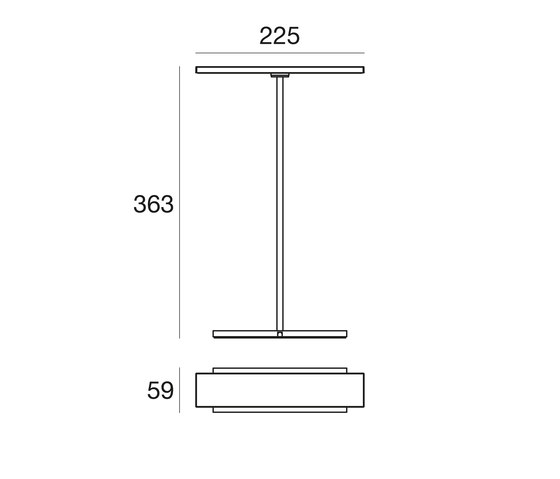 Dublight_C tab by Linea Light Group | Table lights