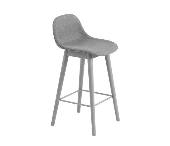Fiber Counter Stool | Wood Base | Textile by Muuto | Bar stools