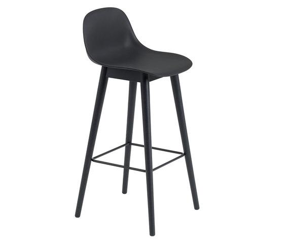 Fiber Bar Stool   Wood Base by Muuto   Bar stools