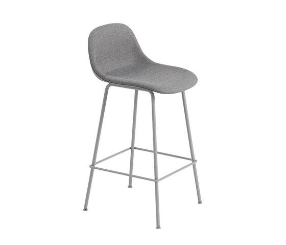 Fiber Counter Stool | Tube Base | Textile by Muuto | Bar stools