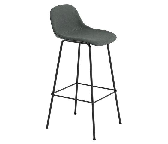 Fiber Bar Stool | Tube Base | Textile by Muuto | Bar stools