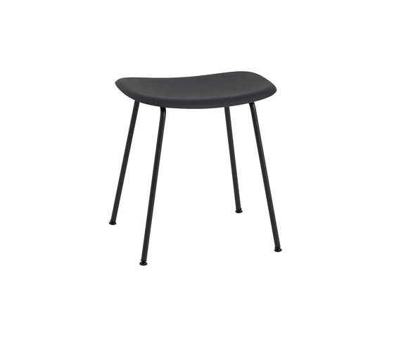 Fiber Stool | tube base  - black von Muuto | Poufs