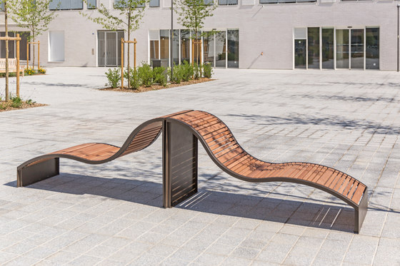 Soha wooden transat by Concept Urbain | Benches