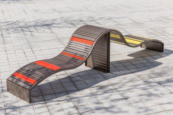 Soha metal transat by Concept Urbain   Benches