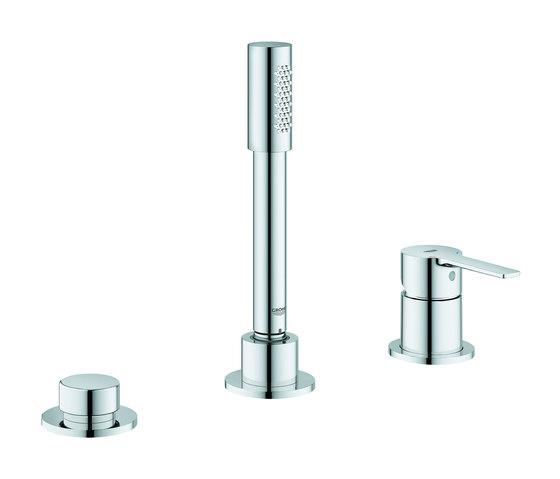 Lineare 3-hole single-lever bath combination by GROHE | Bath taps