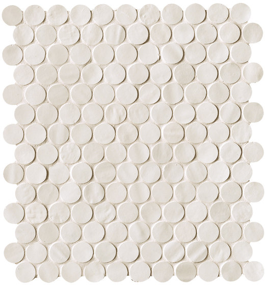 Brooklyn Round Snow Mosaico de Fap Ceramiche   Mosaicos de cerámica
