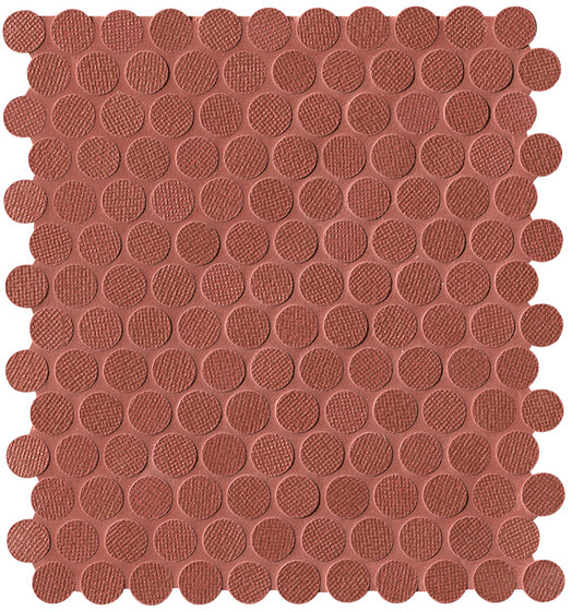 Color Line Copper Marsala Round Mosaico by Fap Ceramiche | Ceramic mosaics
