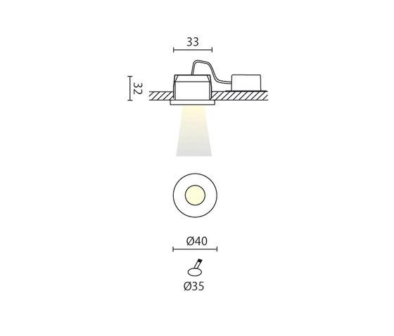 Ambo A di Aqlus | Lampade soffitto incasso