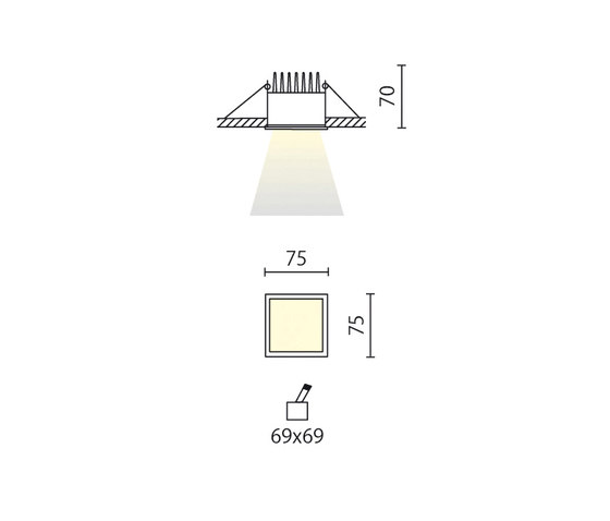 EK di Aqlus | Lampade soffitto incasso
