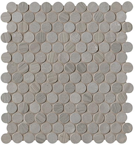 Connection Grey Round Mosaico di Fap Ceramiche | Piastrelle ceramica