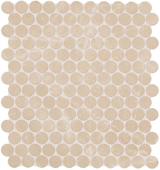 Roma Diamond Beige Duna Round Mosaico von Fap Ceramiche | Keramik Fliesen