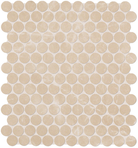Roma Diamond Beige Duna Round Mosaico de Fap Ceramiche | Carrelage céramique