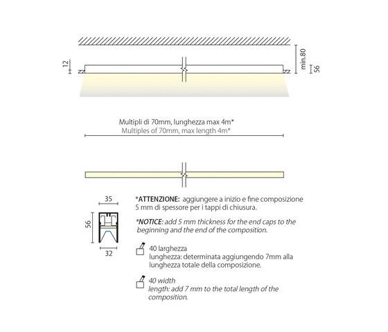 Fusion 24 systema senza bordo di Aqlus | Lampade soffitto incasso