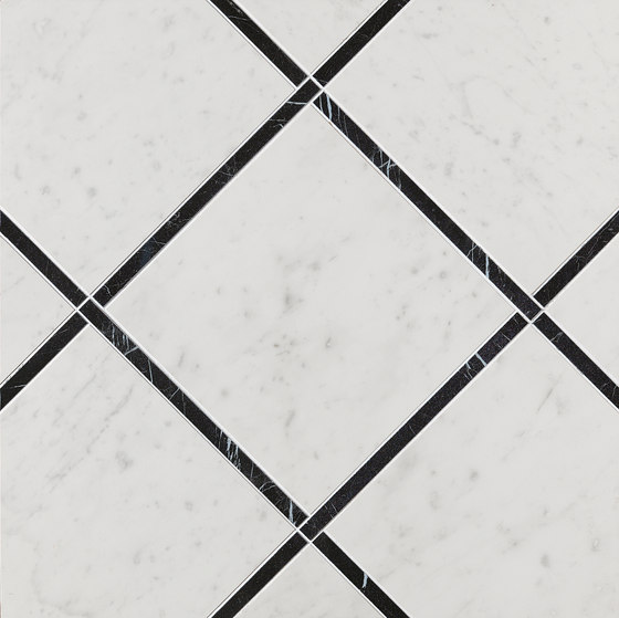 Roma Diamond Incroci Carrara Nero Reale von Fap Ceramiche | Keramik Fliesen