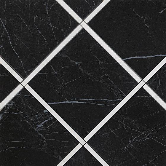 Roma Diamond Incroci Nero Reale Carrara by Fap Ceramiche   Ceramic tiles